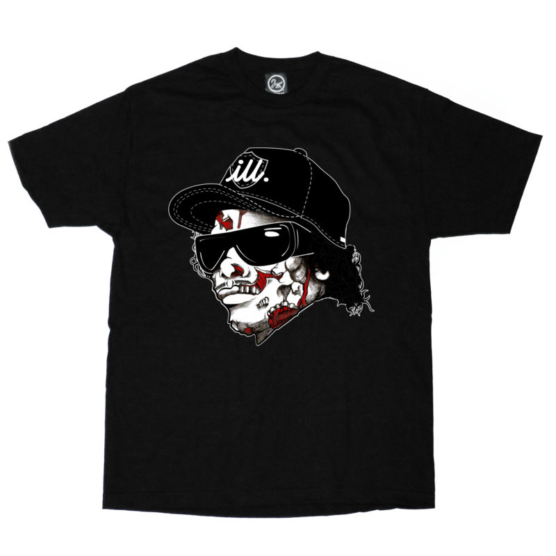 eazy_e_zombie_black_tshirt_2ill_twoill_two_ill_clothing_swag_living_walking_dead_nwa
