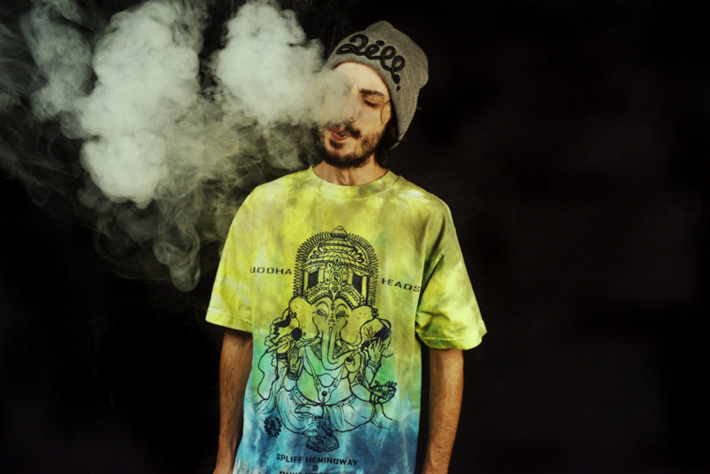 spliff_hemingway_duke_westlake_buddha_heads_tie_dye_tee_smoke_2ill_clothing_two_ill_2015