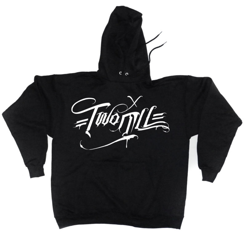 two_ill_motive_black_hoody_front_2ill_clothing_twoill_typography