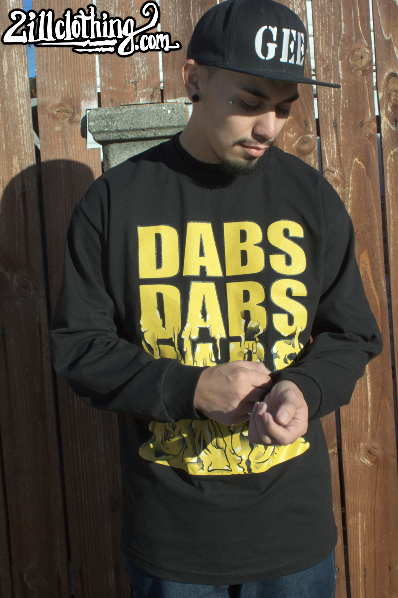 chris gee two ill clothing 2ill long sleeve black dabs 3