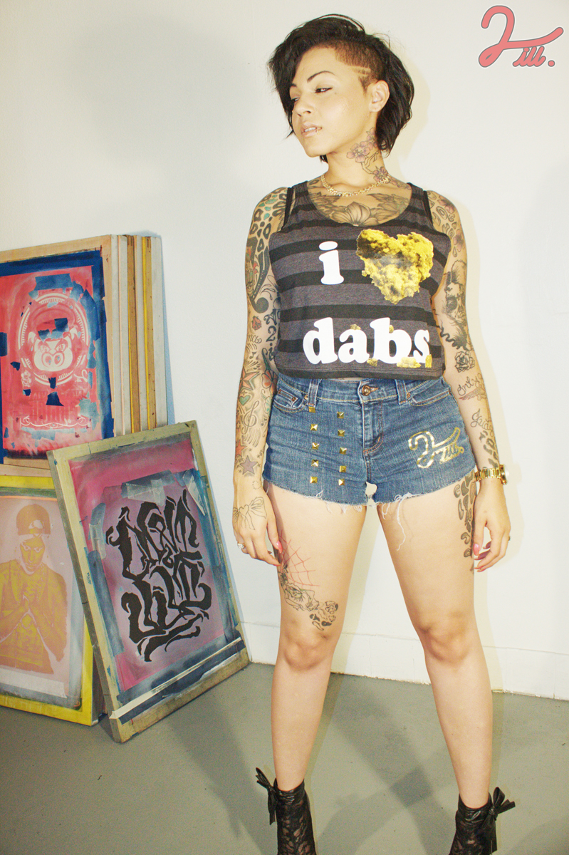i heart dabs christina custom shorts striped two ill clothing 2