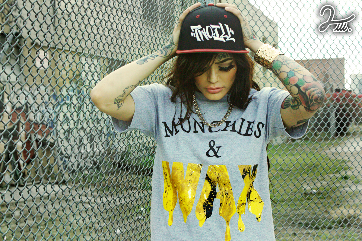munchies and wax grey tee 2ill clothing karlee two ill downtown los angeles 9