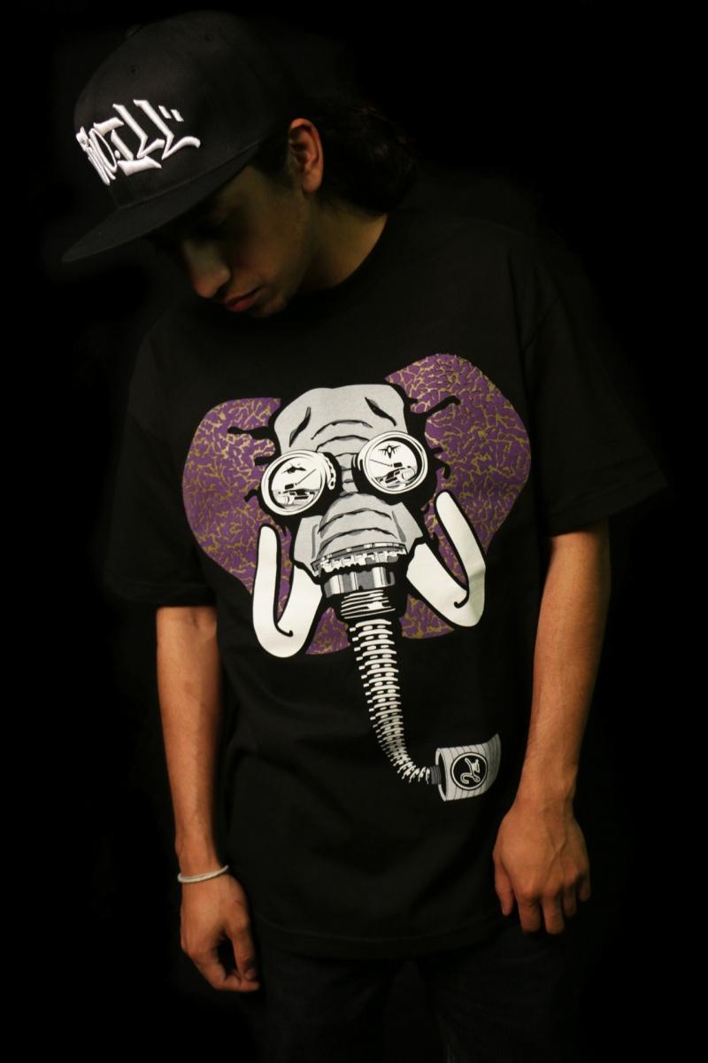 severe the mc illaphant tee 2ill clothing elephant print purple gold 3